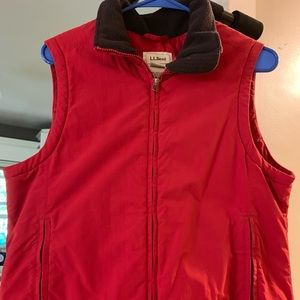 LL Bean red vest